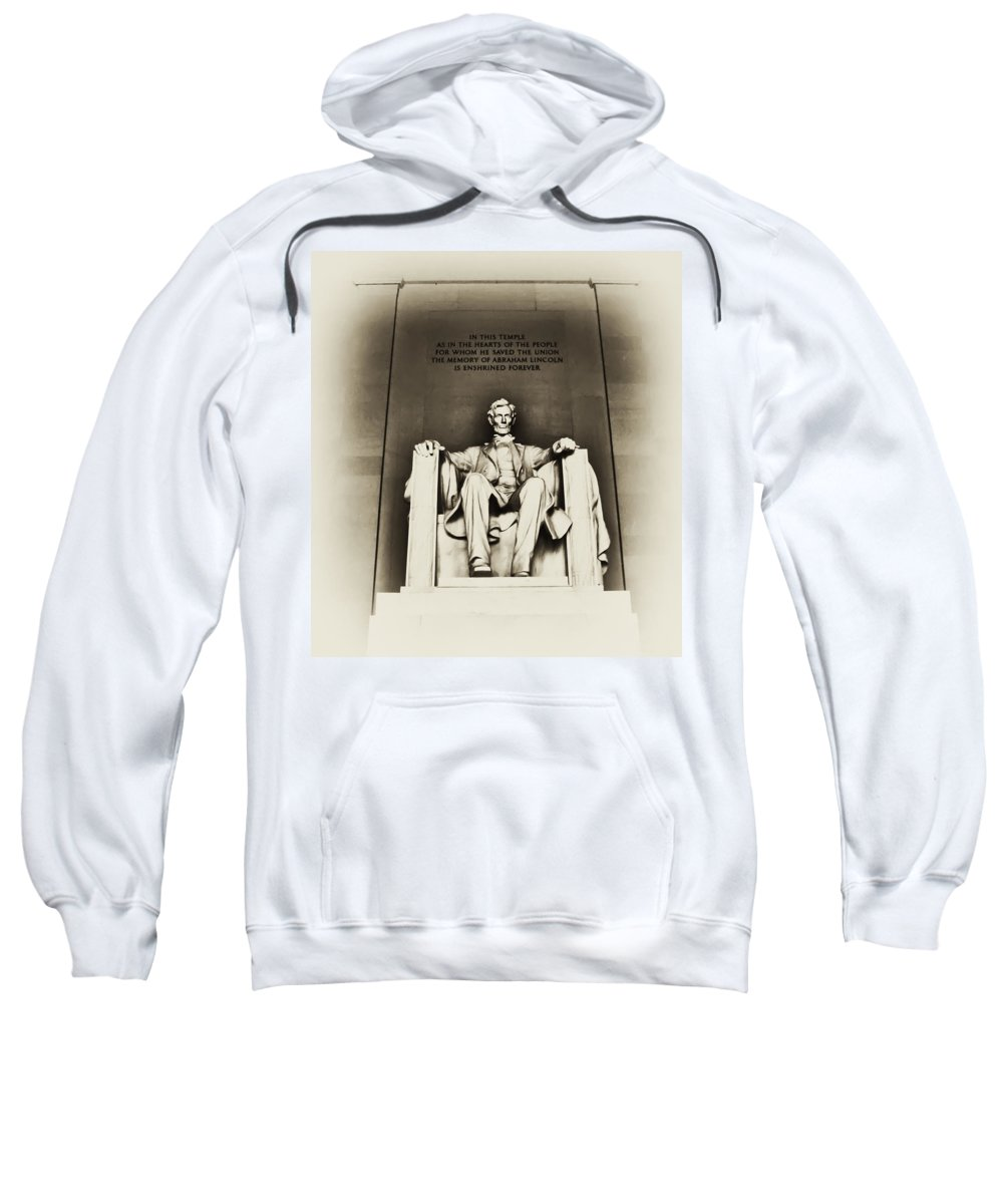Lincoln Sweatshirt featuring the photograph Lincoln Memorial by Bill Cannon