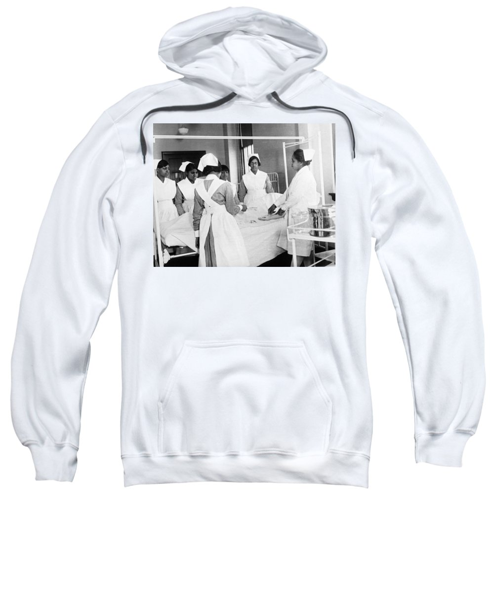 1920s Sweatshirt featuring the photograph Lincoln School For Nurses by Underwood Archives