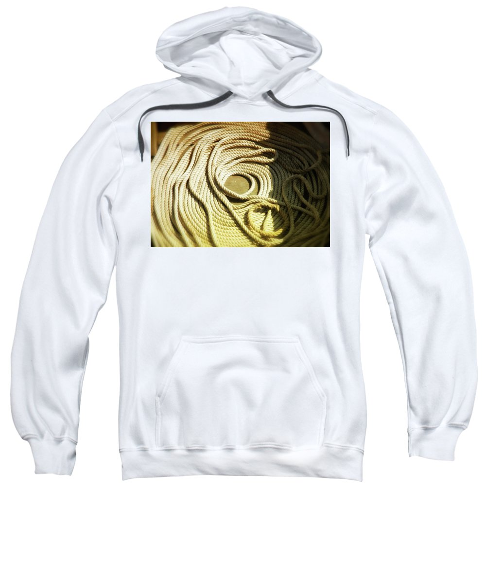 Usa Sweatshirt featuring the photograph Line Coil by Savanah Plank