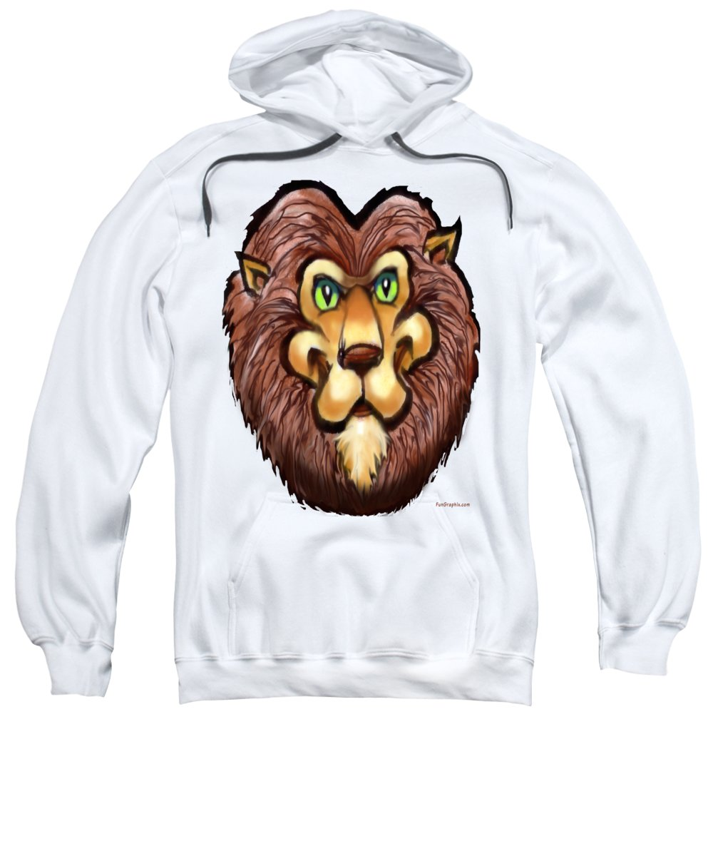 Lion Sweatshirt featuring the painting Lion by Kevin Middleton
