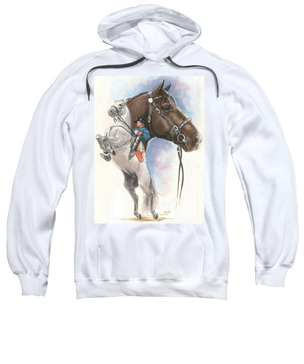 Equus Sweatshirt featuring the mixed media Lippizaner by Barbara Keith