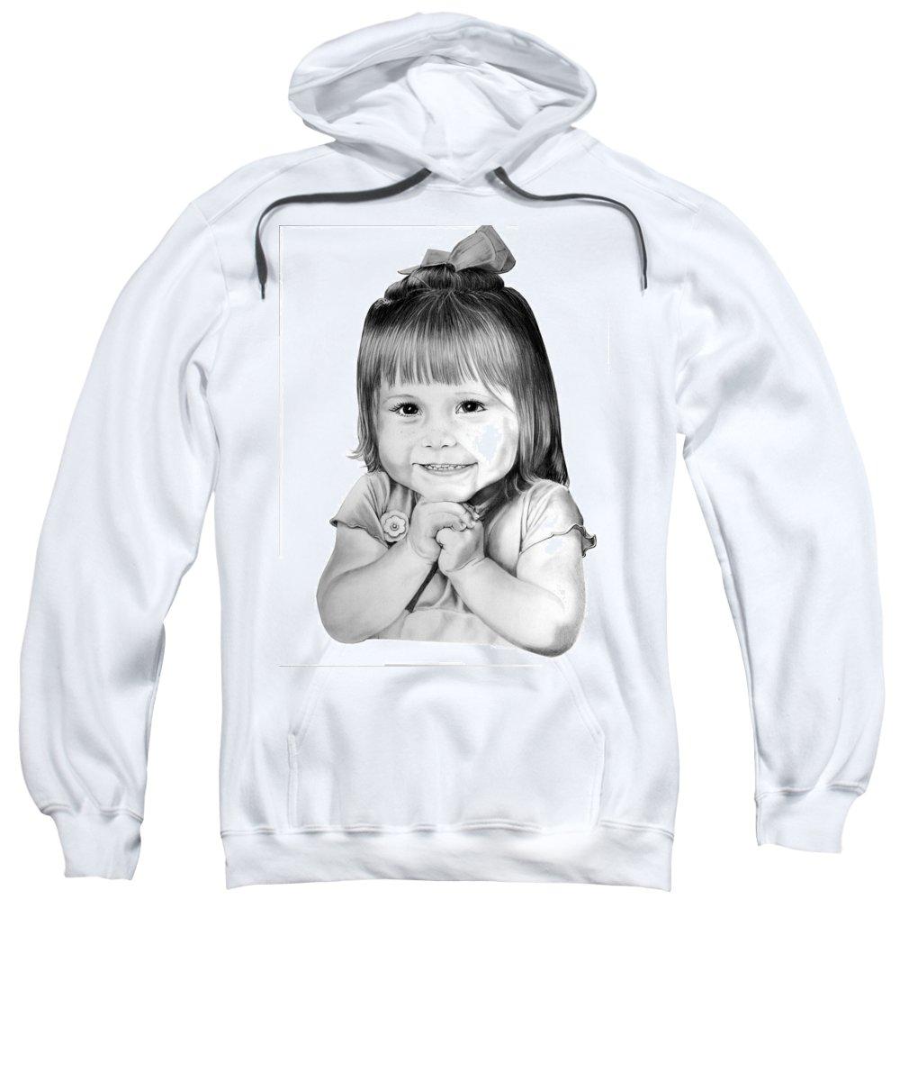Child Sweatshirt featuring the drawing Little Bailey by Murphy Elliott