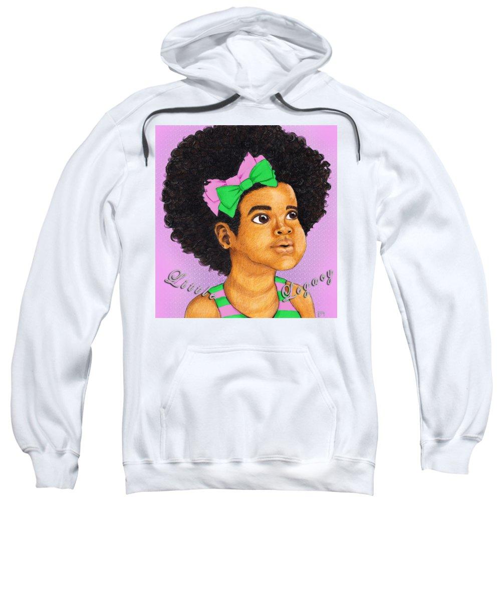 Aka Sweatshirt featuring the digital art Little Legacy Series- A K A by BFly Designs