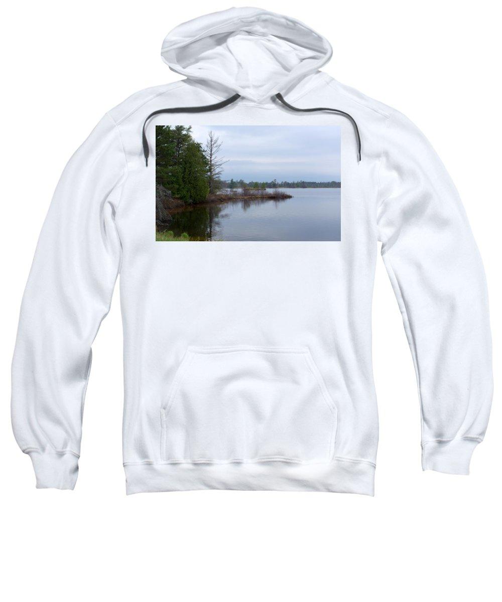 Nature Sweatshirt featuring the photograph Little Peninsula by Linda Kerkau