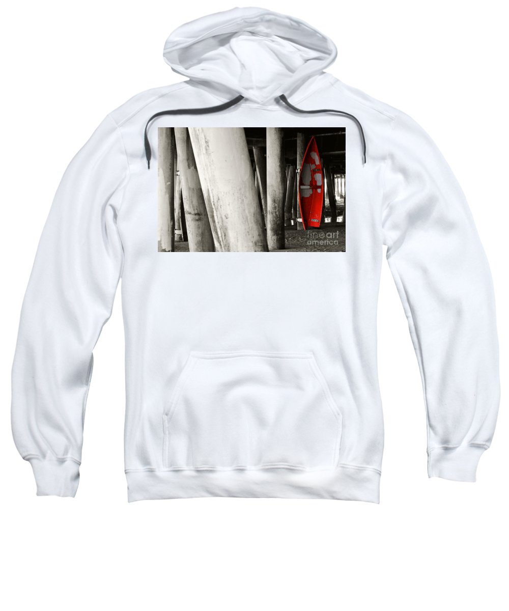 Clay Sweatshirt featuring the photograph Little Red Boat II Re-edit by Clayton Bruster