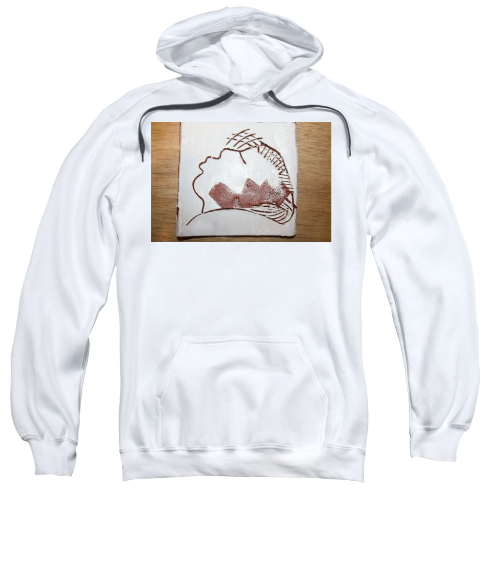 Jesus Sweatshirt featuring the ceramic art Live For Today - Tile by Gloria Ssali