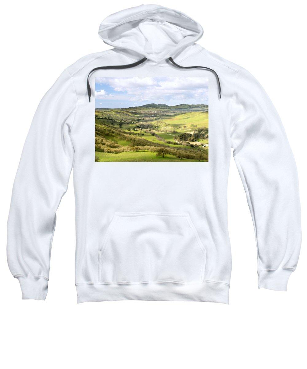 Landscape Sweatshirt featuring the photograph Livermore Valley by Karen W Meyer