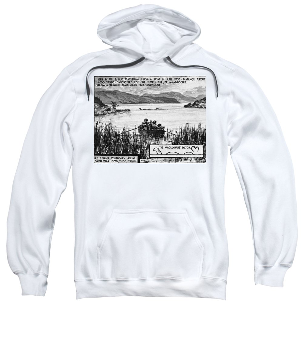 1933 Sweatshirt featuring the photograph Loch Ness Monster, 1934 by Granger