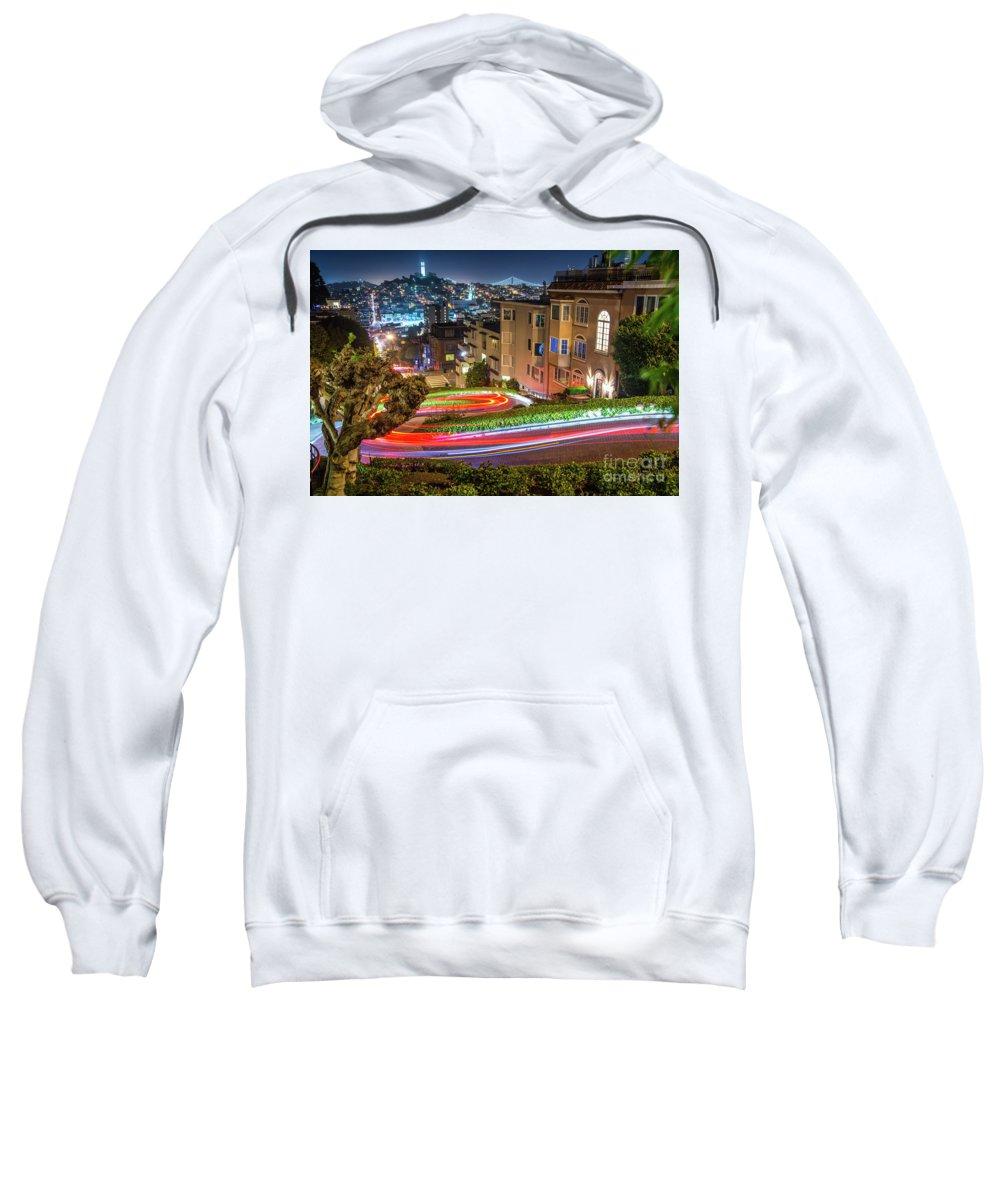 Lombard Street Sweatshirt featuring the photograph Lombard Street by Michael Tidwell