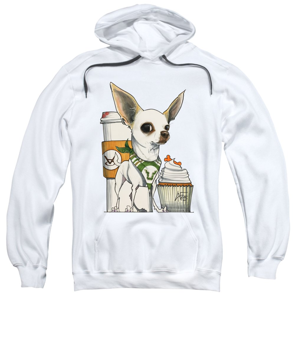Pet Portrait Sweatshirt featuring the drawing Lombardo 7-1459 by John LaFree