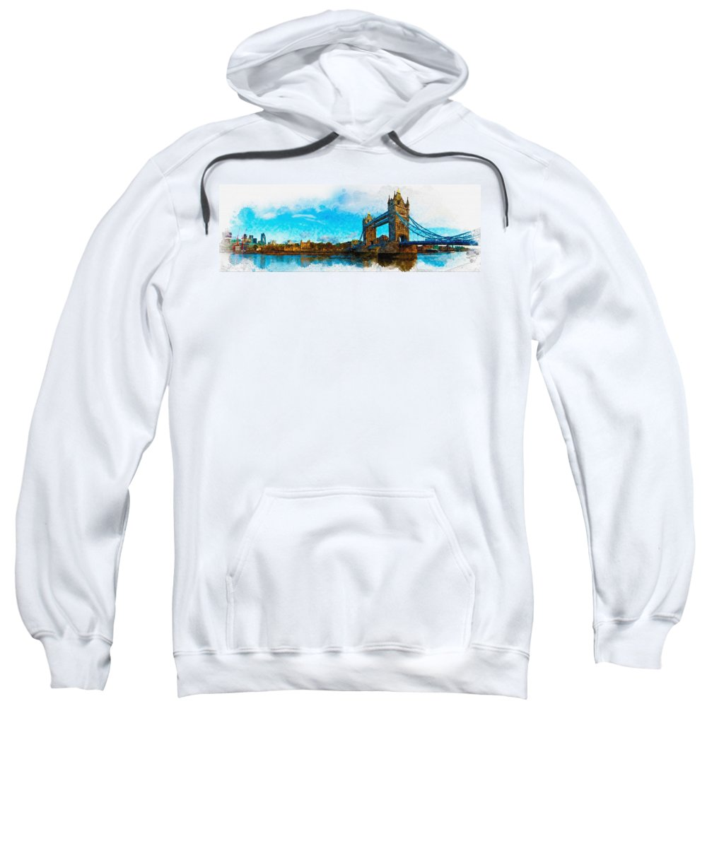 Art & Collectibles Sweatshirt featuring the digital art London Unveiled by Don Kuing