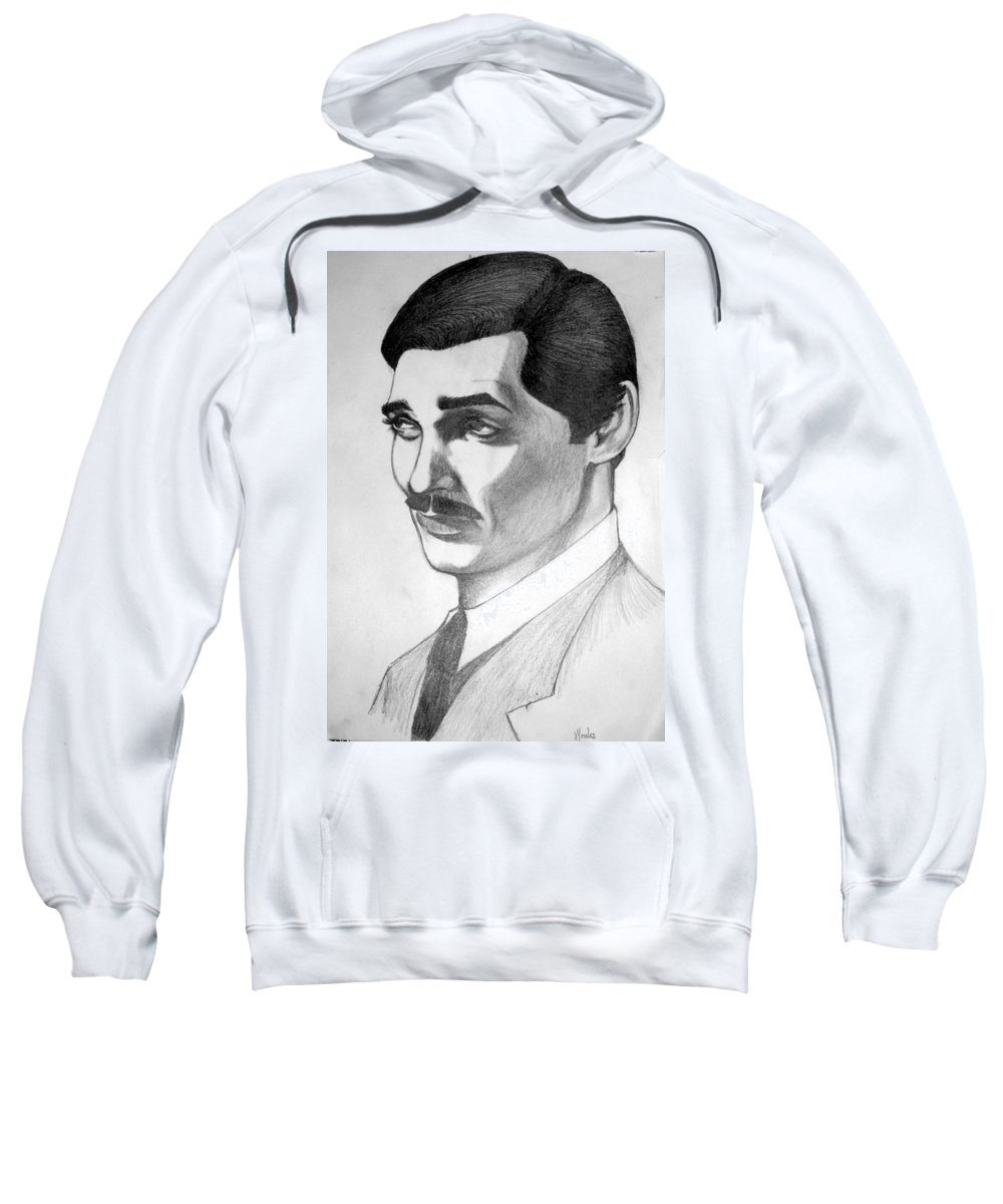 Portrait Sweatshirt featuring the drawing Long Live The King by Marco Morales