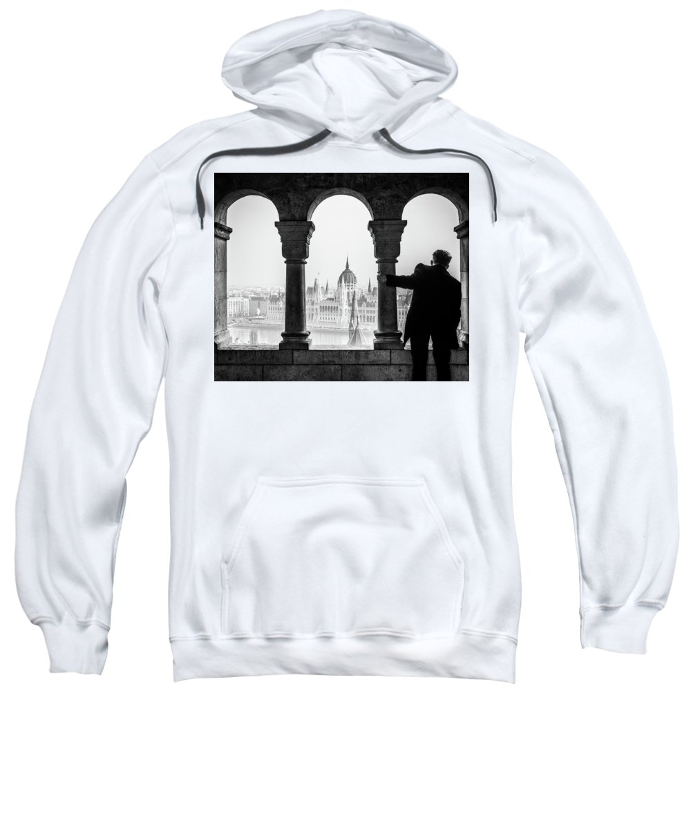 Parliament Sweatshirt featuring the photograph Looking Through. by Angela Aird