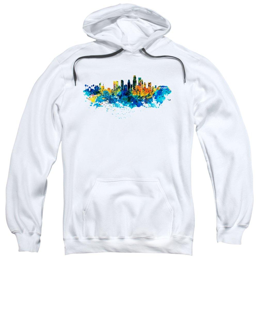 Los Angeles Skyline Hooded Sweatshirts T-Shirts