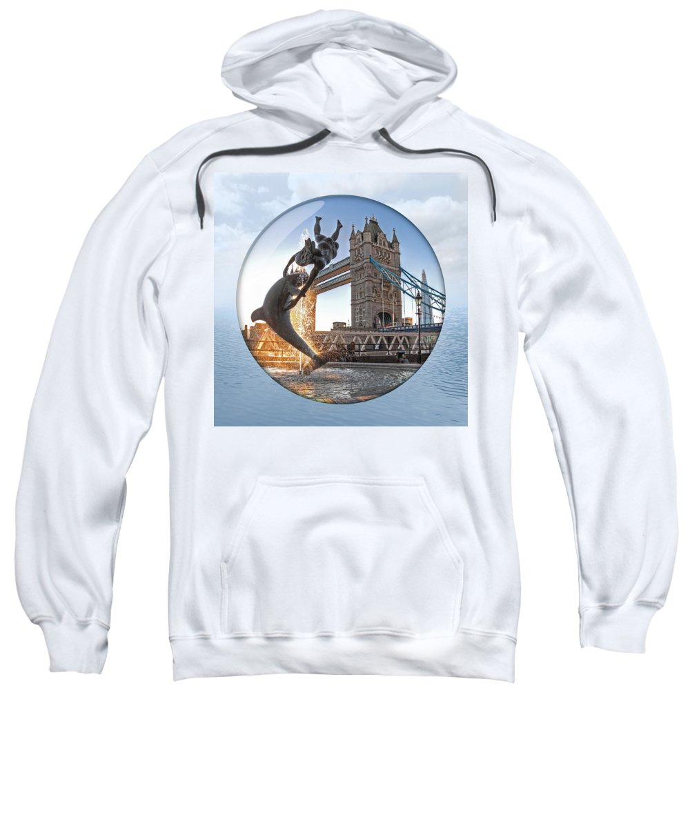 London Sweatshirt featuring the photograph Lost In A Daydream - Floating On The Thames by Gill Billington