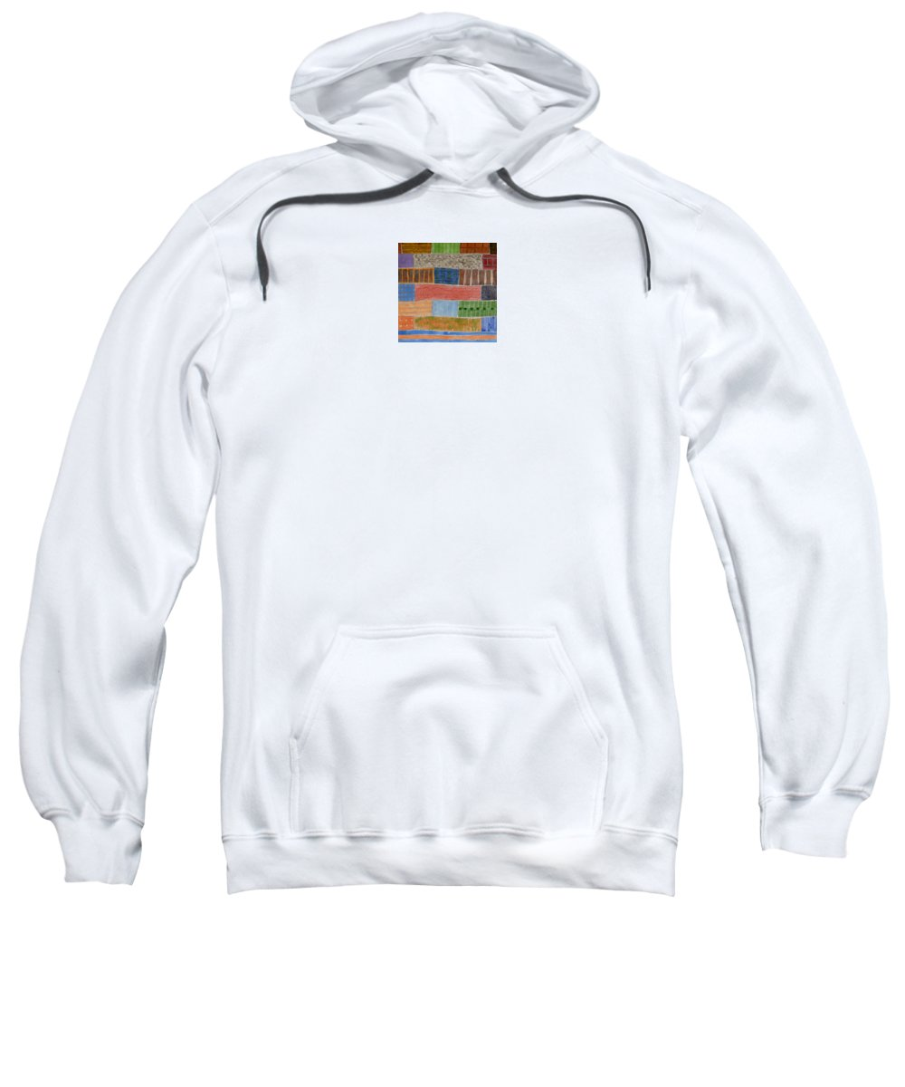 Land Sweatshirt featuring the painting Several Acres Of Land by Heidi Capitaine