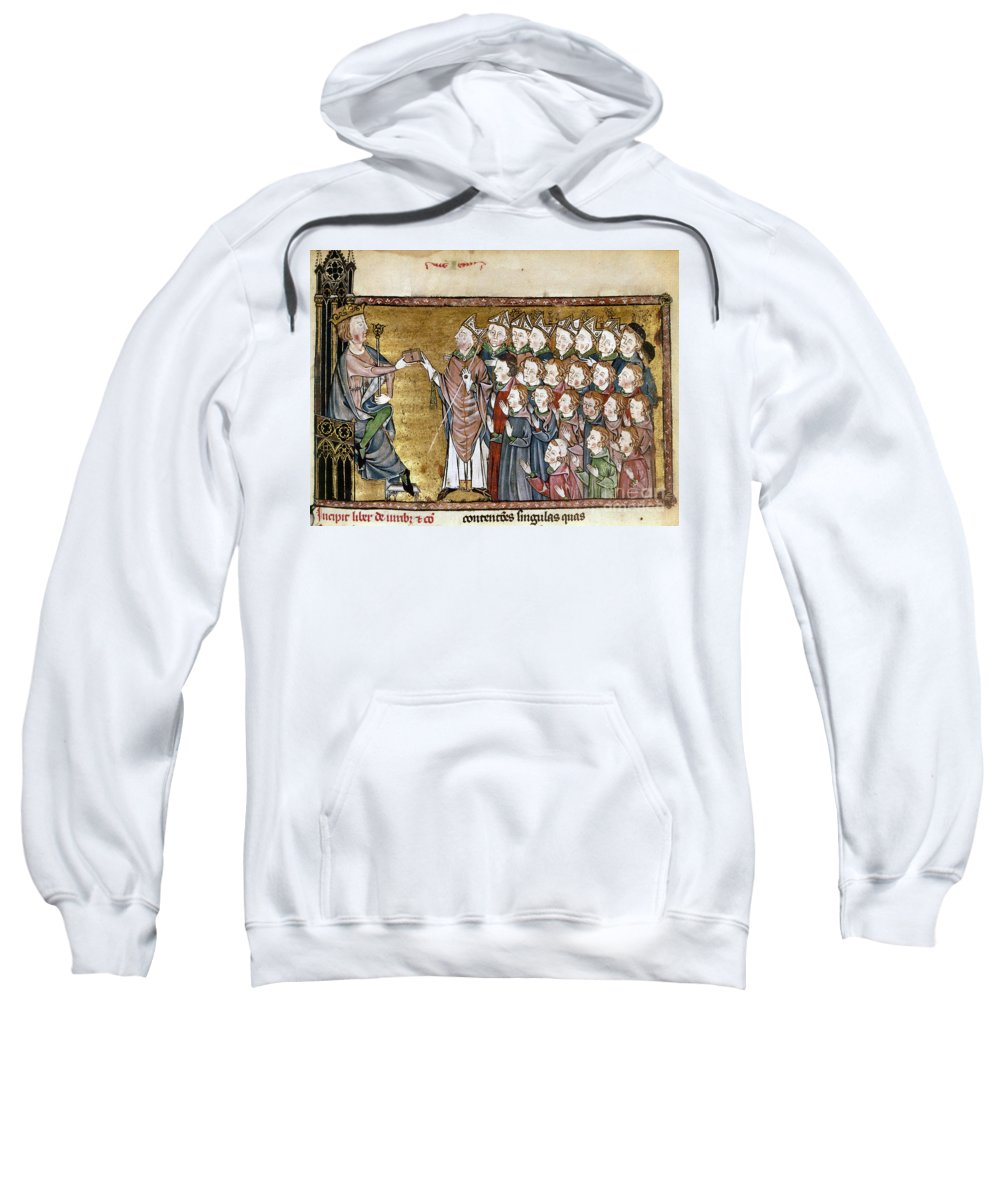 1340 Sweatshirt featuring the painting Louis Ix (1214-1270) by Granger