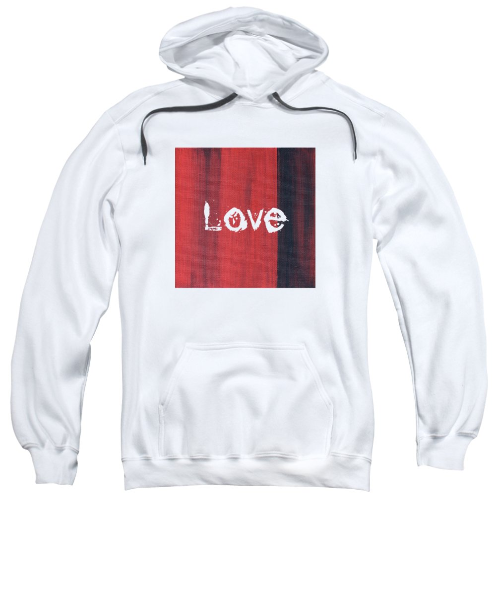 Love Sweatshirt featuring the mixed media Love by Kathleen Wong