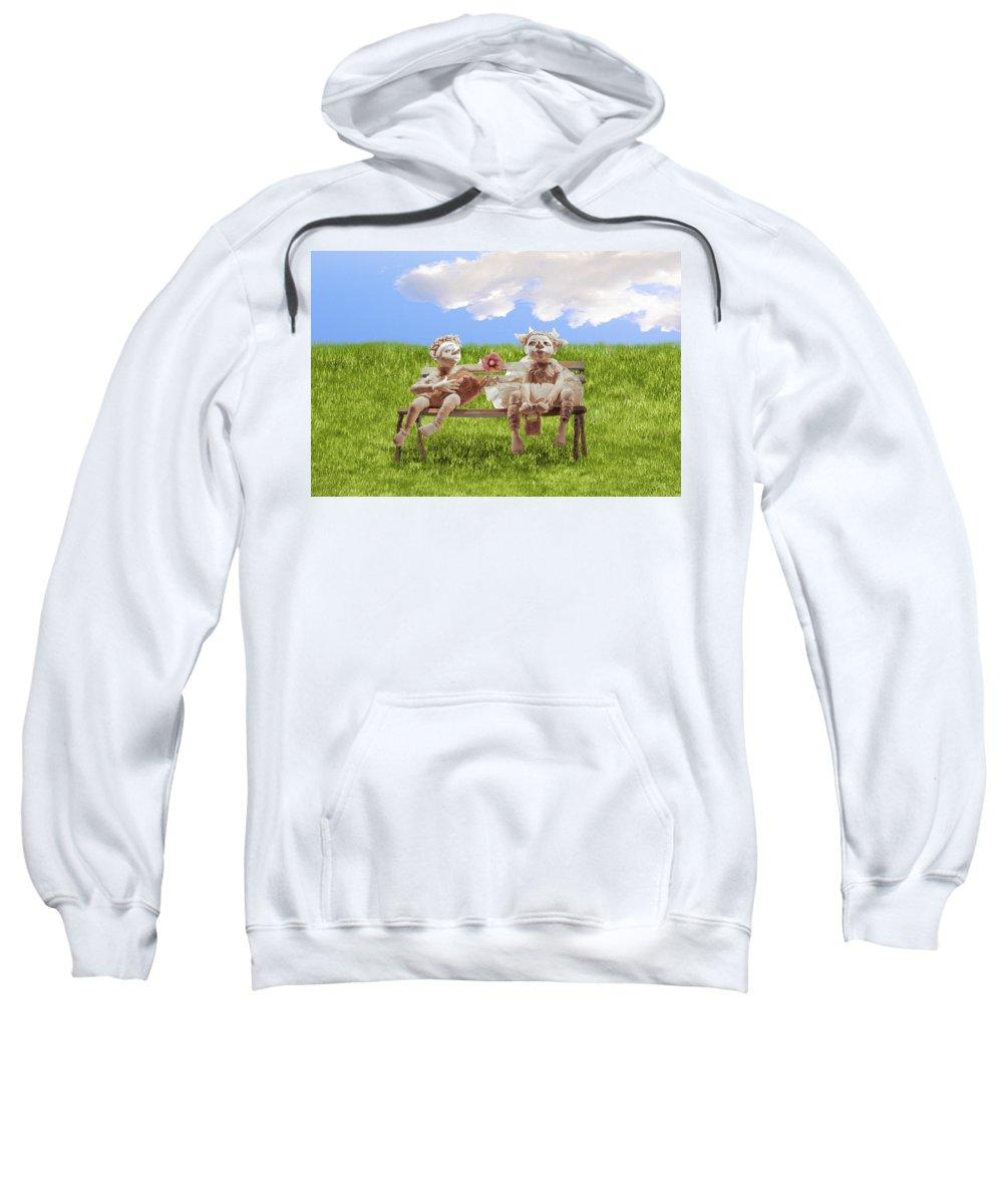 Dolls Sweatshirt featuring the photograph Love by larisa Fedotova