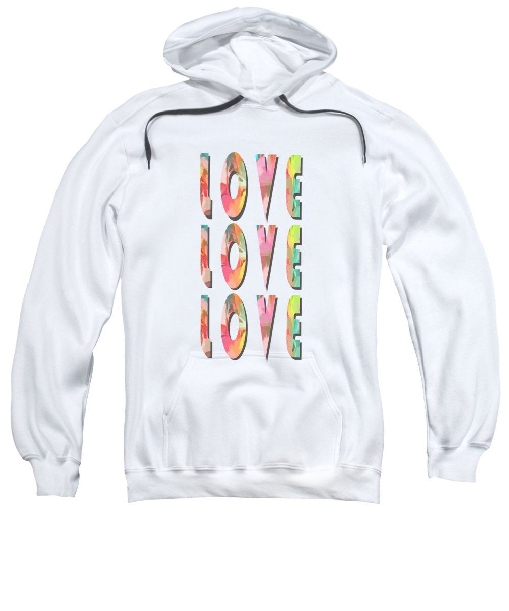 Painting Sweatshirt featuring the painting Love Love Love Phone Case by Edward Fielding