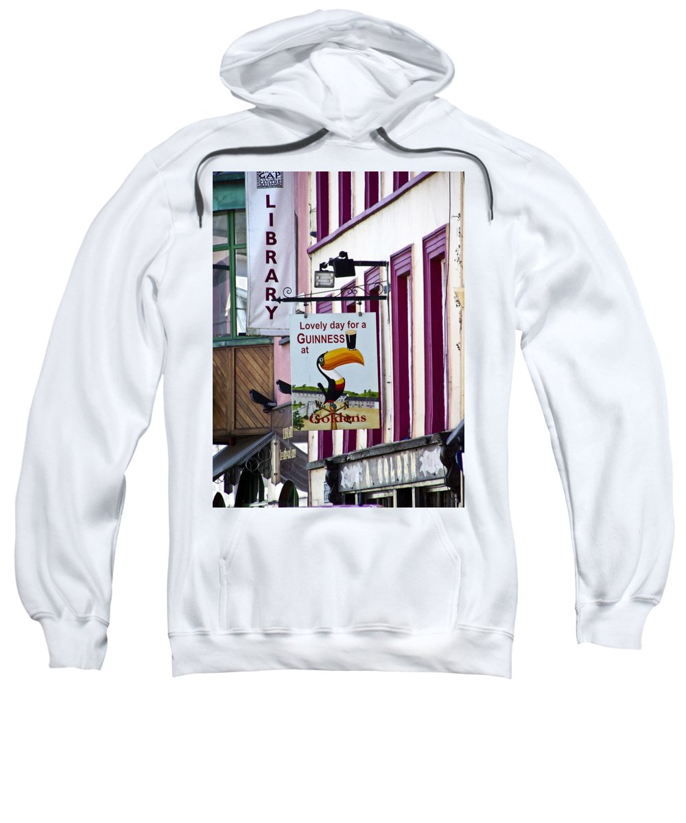 Irish Sweatshirt featuring the photograph Lovely Day For A Guinness Macroom Ireland by Teresa Mucha