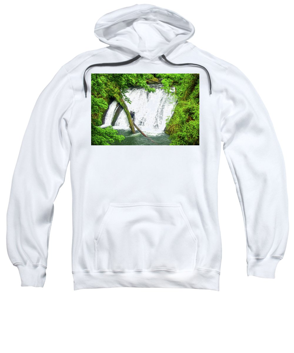 Water Falls Sweatshirt featuring the photograph Lower Falls 4 by Mike Wheeler
