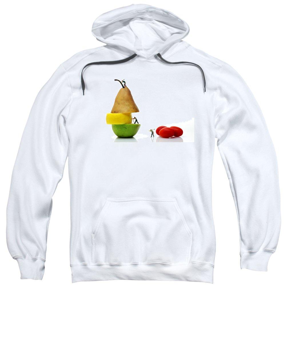 Surreal Sweatshirt featuring the photograph Lumberjacks Working On Fruits by Paul Ge