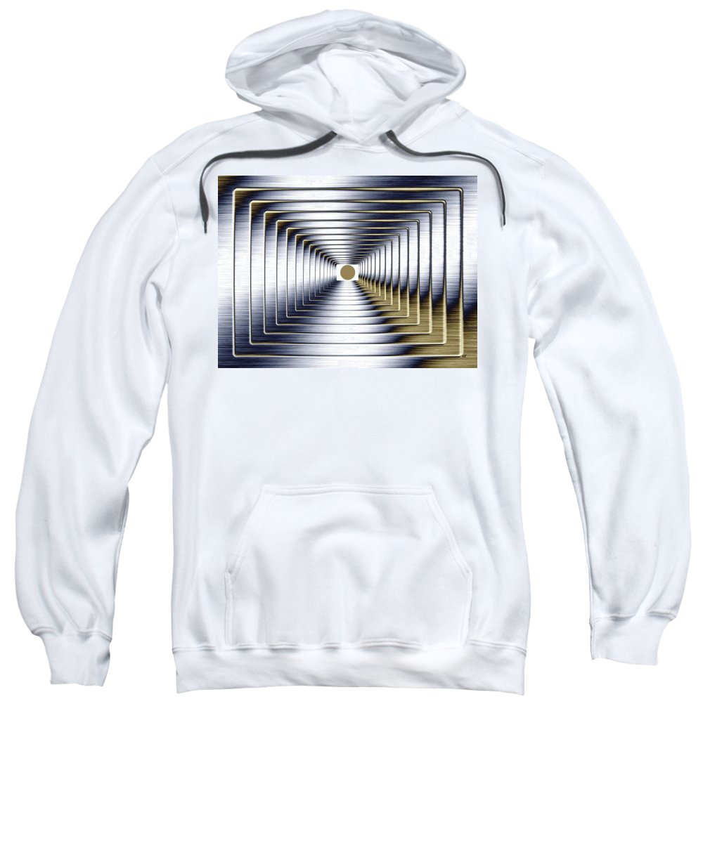 Abstract Sweatshirt featuring the digital art Luminous Energy 1 by Will Borden