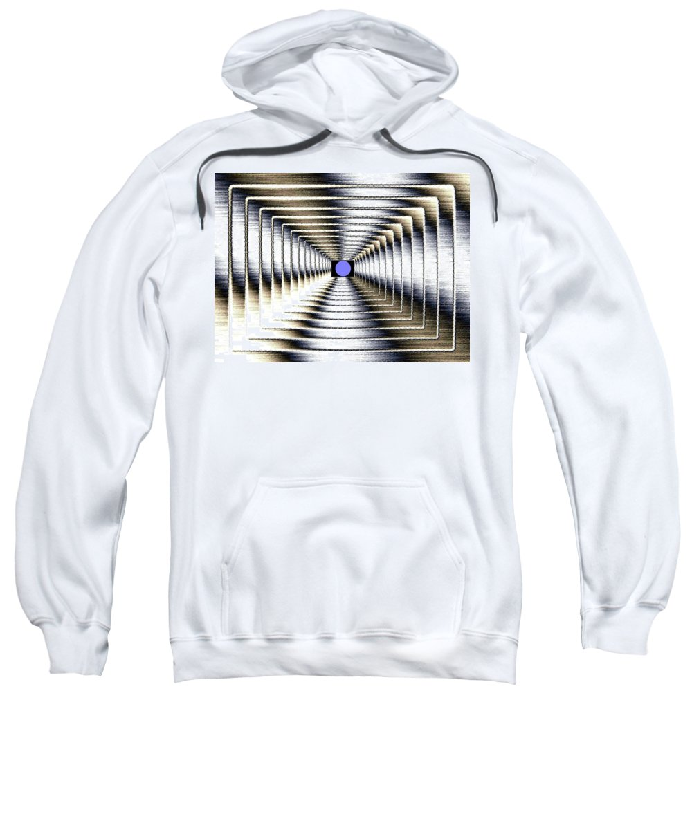 Abstract Sweatshirt featuring the digital art Luminous Energy 6 by Will Borden