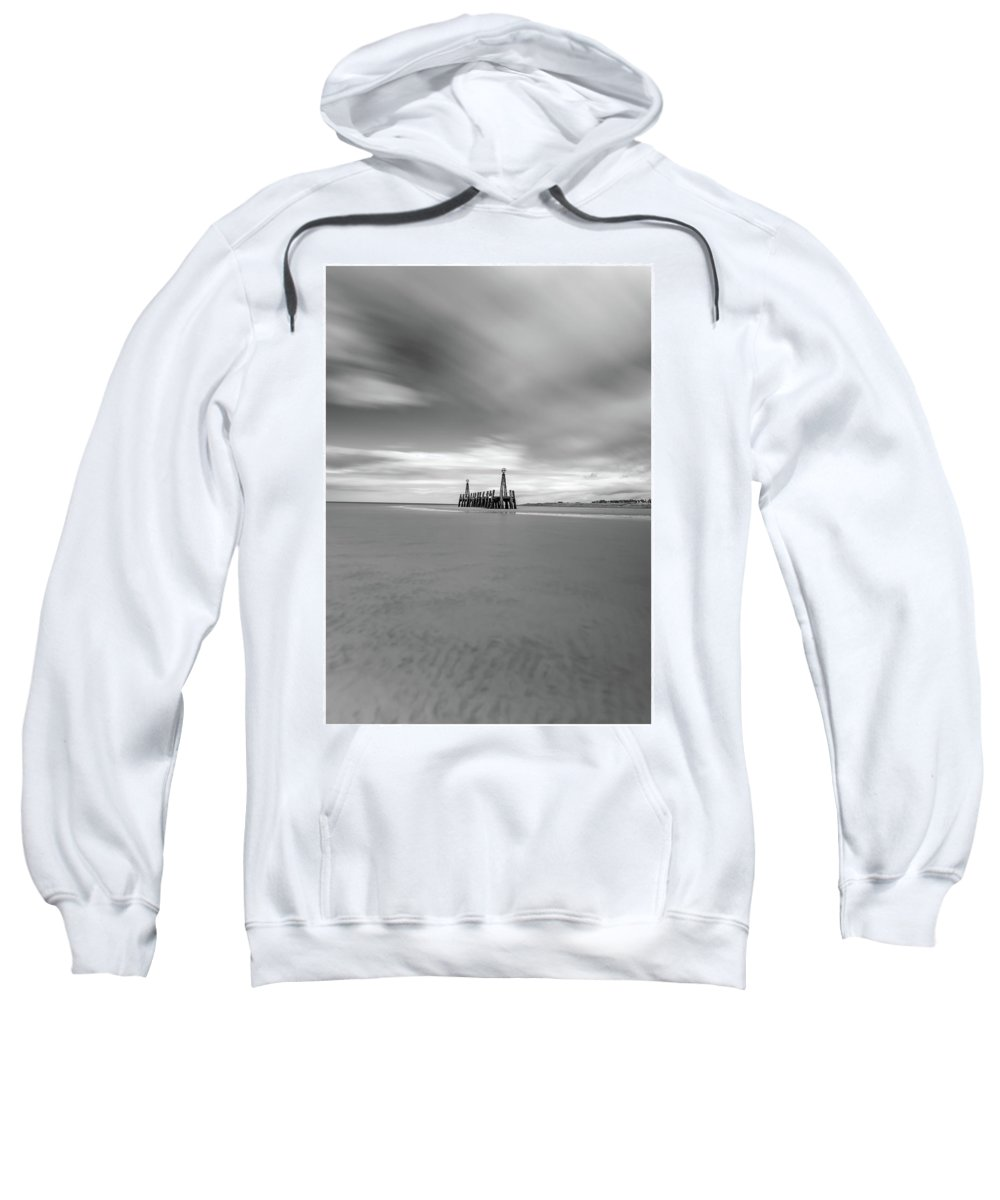 Seaside Sweatshirt featuring the photograph Lytham St Annes by Mark Mc neill