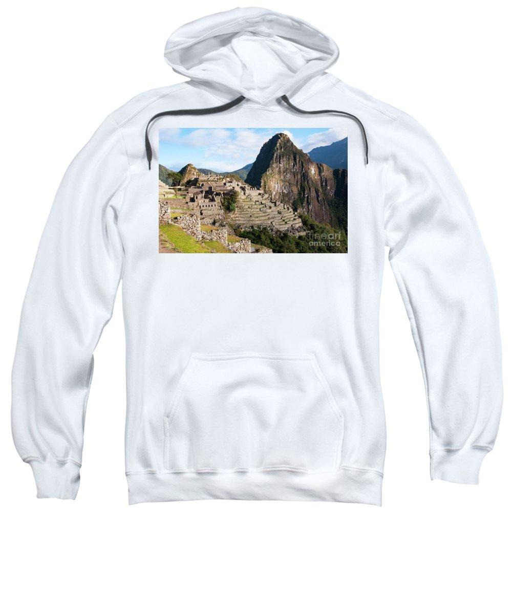 Machu Picchu Sweatshirt featuring the photograph Machu Picchu by Bob Phillips