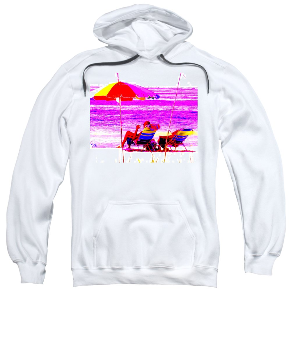 Beach Sweatshirt featuring the photograph Mad Dogs Mid Day Sun by Ian MacDonald
