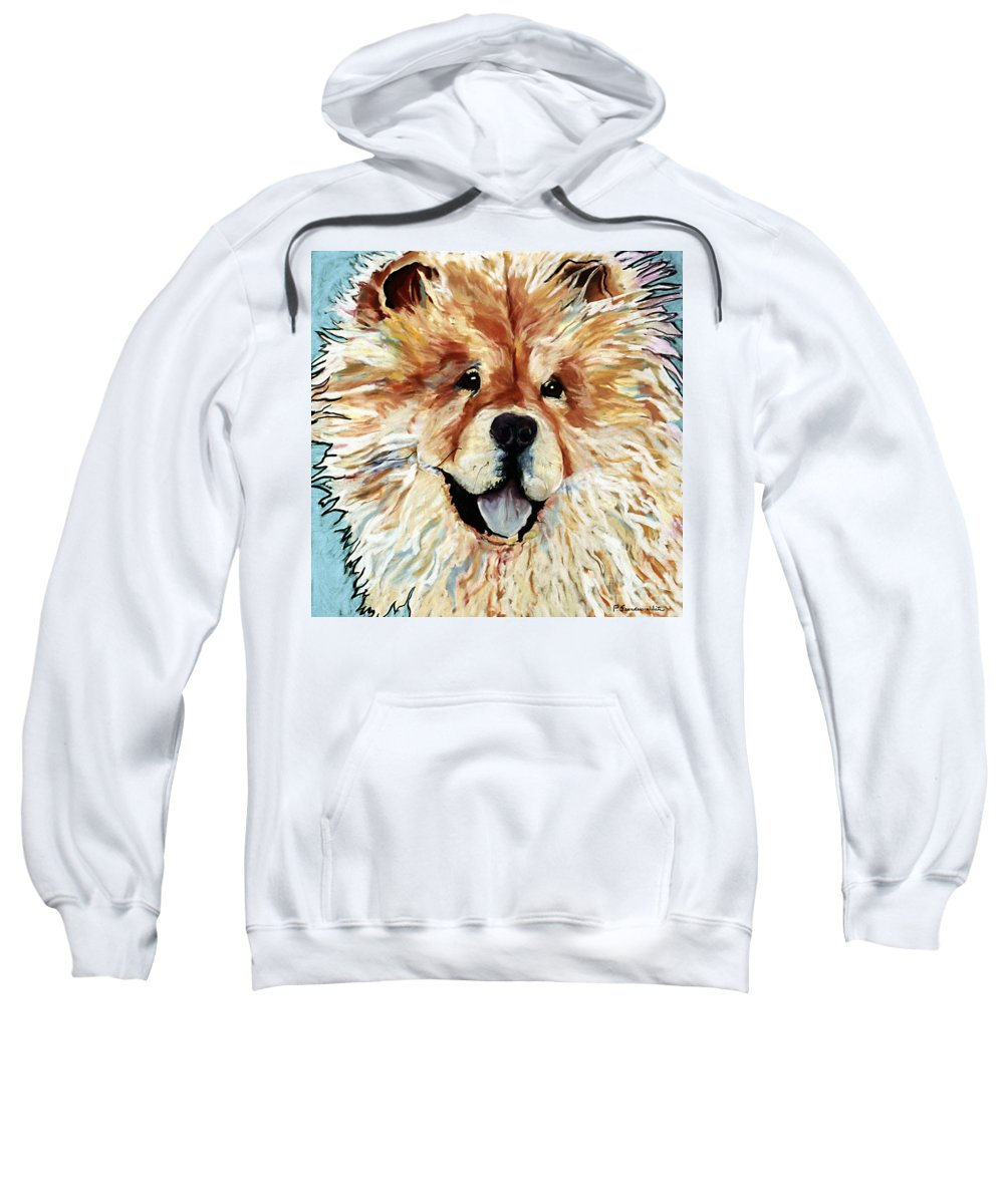 Chow Chow Sweatshirt featuring the pastel Madame Chu Cho by Pat Saunders-White
