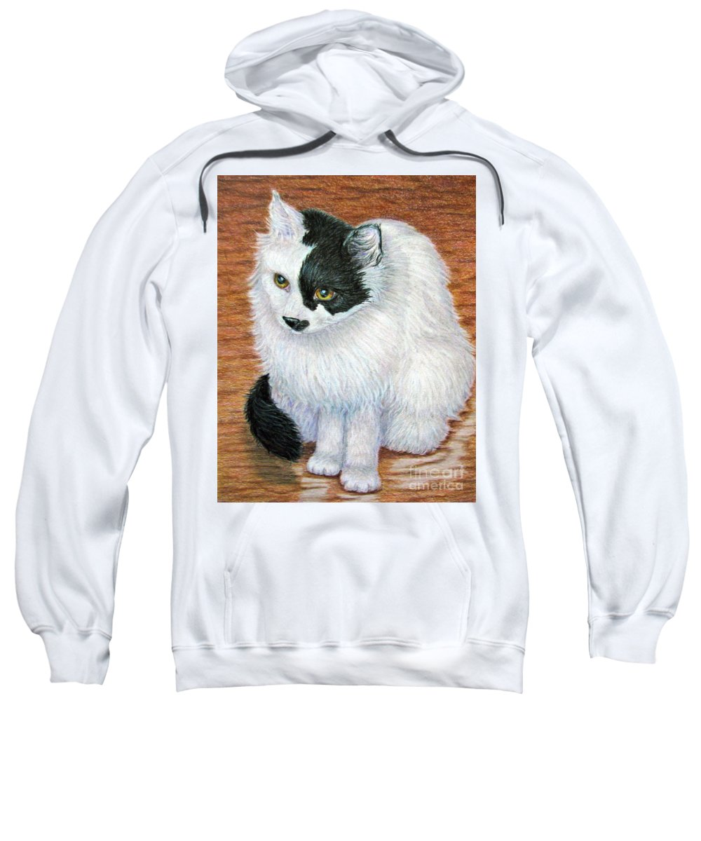 Fuqua - Artwork Sweatshirt featuring the drawing Maddie In Waiting by Beverly Fuqua