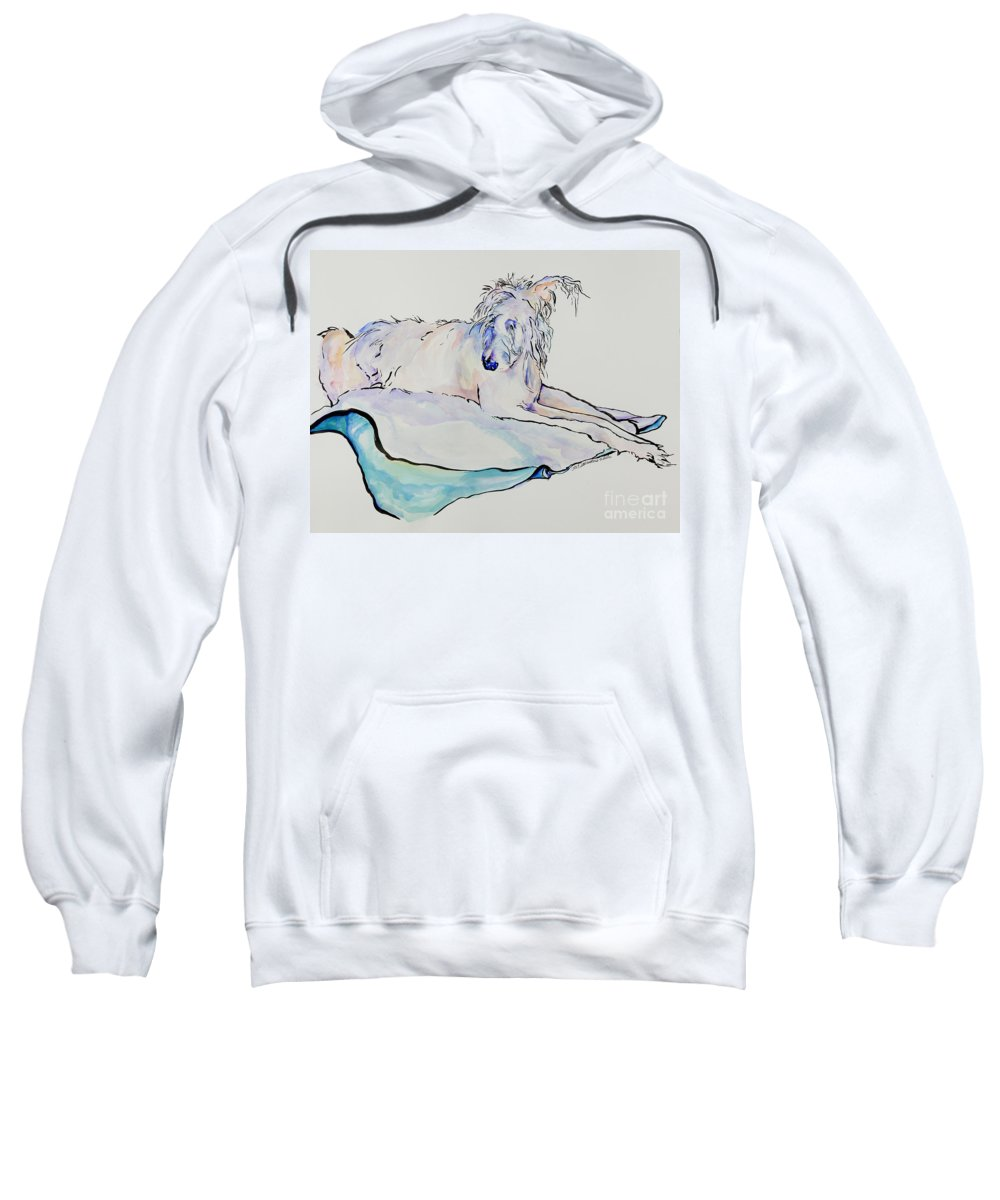 Animal Portrait Sweatshirt featuring the painting Maevis by Pat Saunders-White