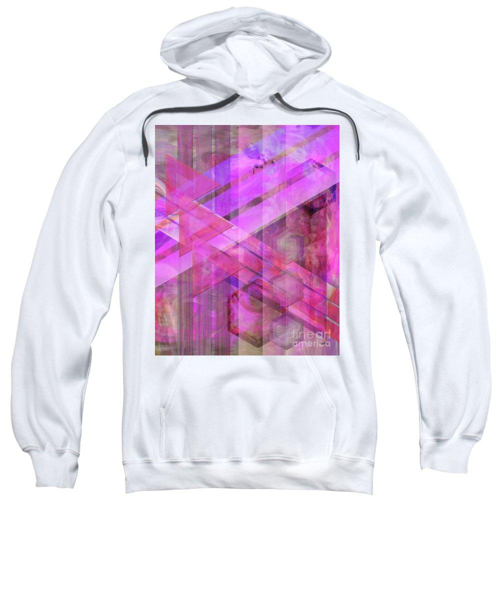 Magenta Haze Sweatshirt featuring the digital art Magenta Haze by John Beck