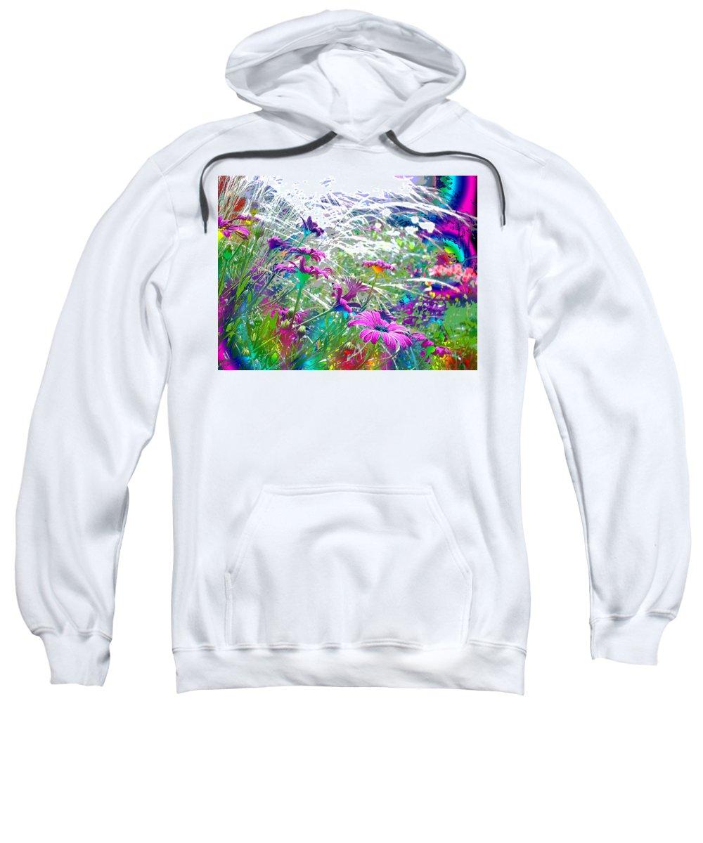 Garden Sweatshirt featuring the photograph Magic Garden by Susan Baker