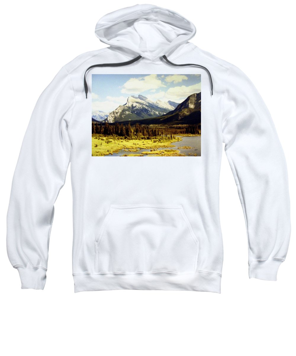 Mount Rundle Sweatshirt featuring the photograph Majestic Mount Rundle by Will Borden