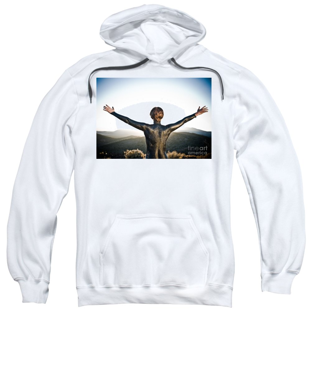 Early Sunset Sweatshirt featuring the photograph Majestic Wave by Scott Sawyer