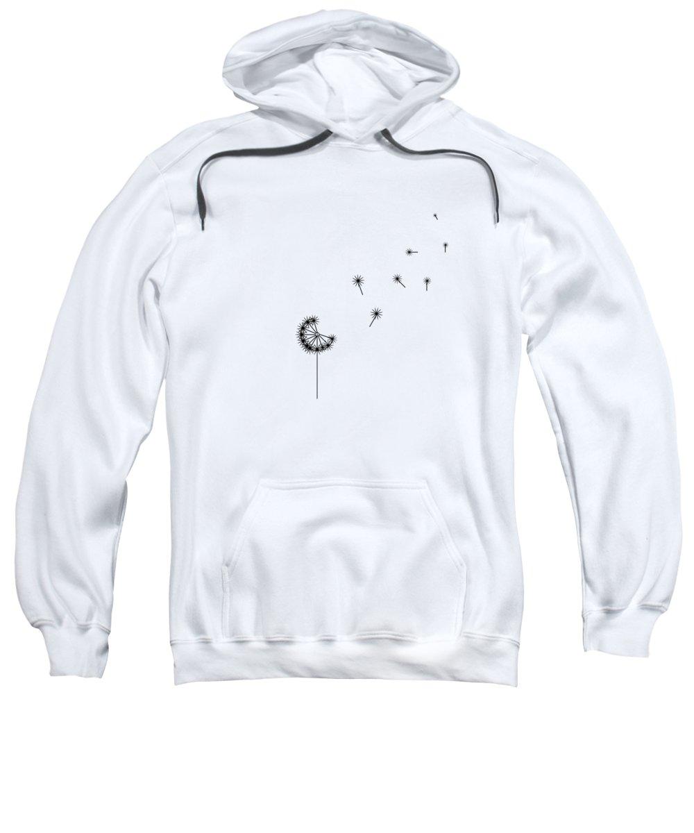 Dandelion Sweatshirt featuring the digital art Make A Wish by Emily Brookes