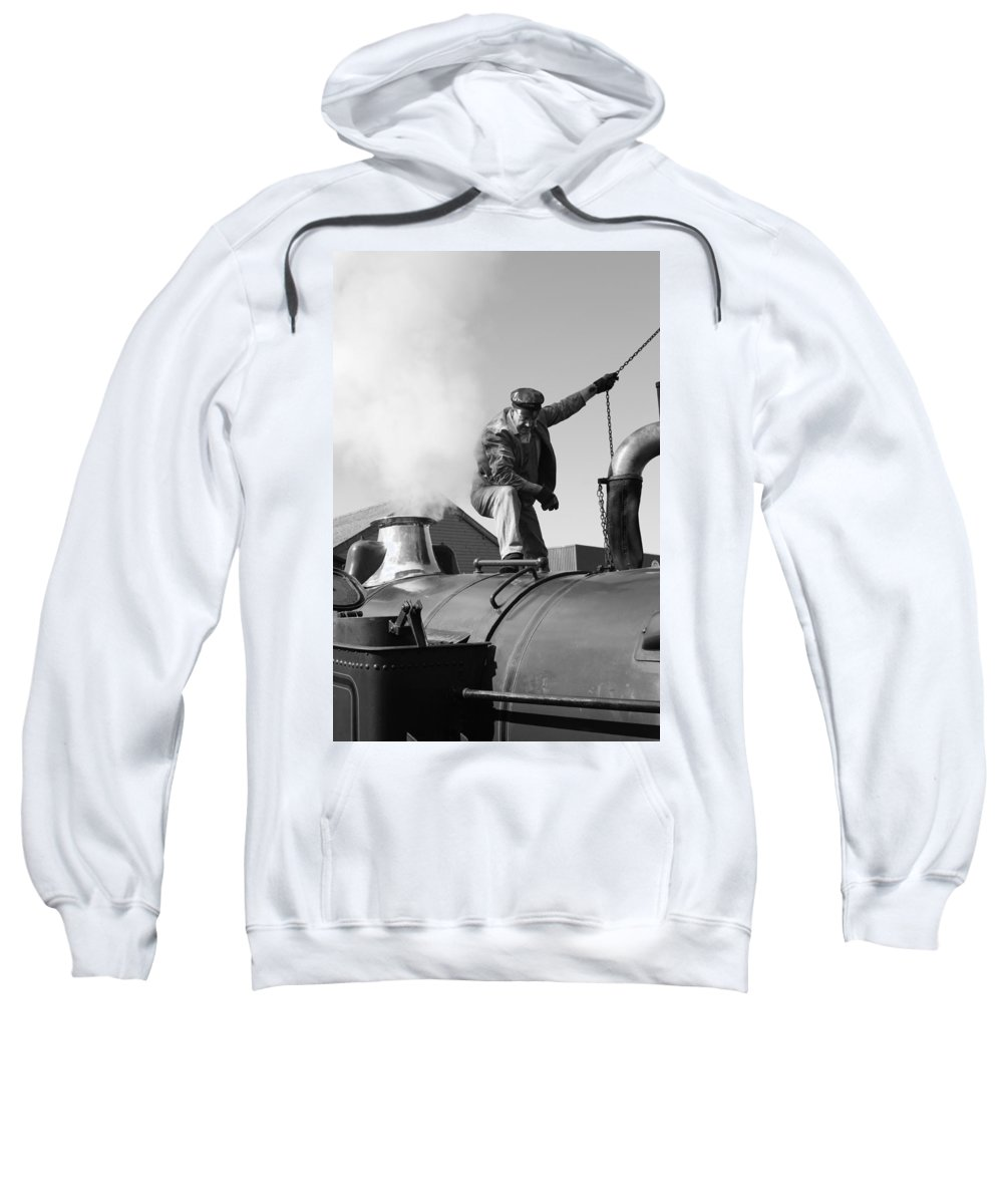 Steam Train Sweatshirt featuring the photograph Making Steam by Lauri Novak