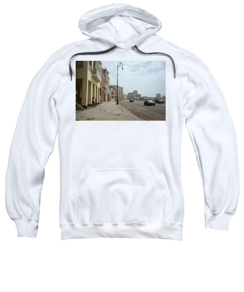 Quin Sweetman Sweatshirt featuring the photograph Malecon En Havana by Quin Sweetman