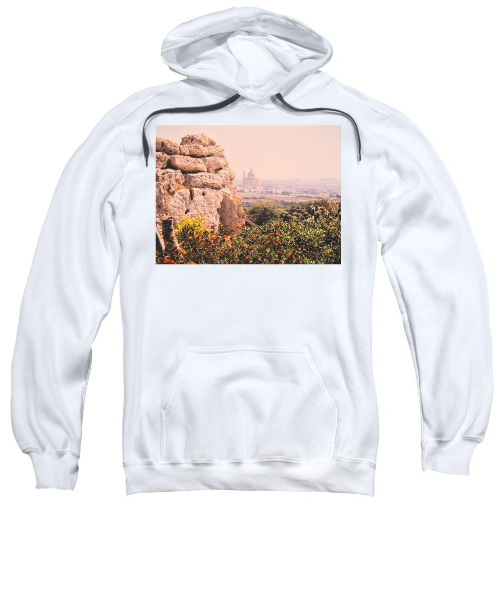 Malta Sweatshirt featuring the photograph Malta Wall by Ian MacDonald