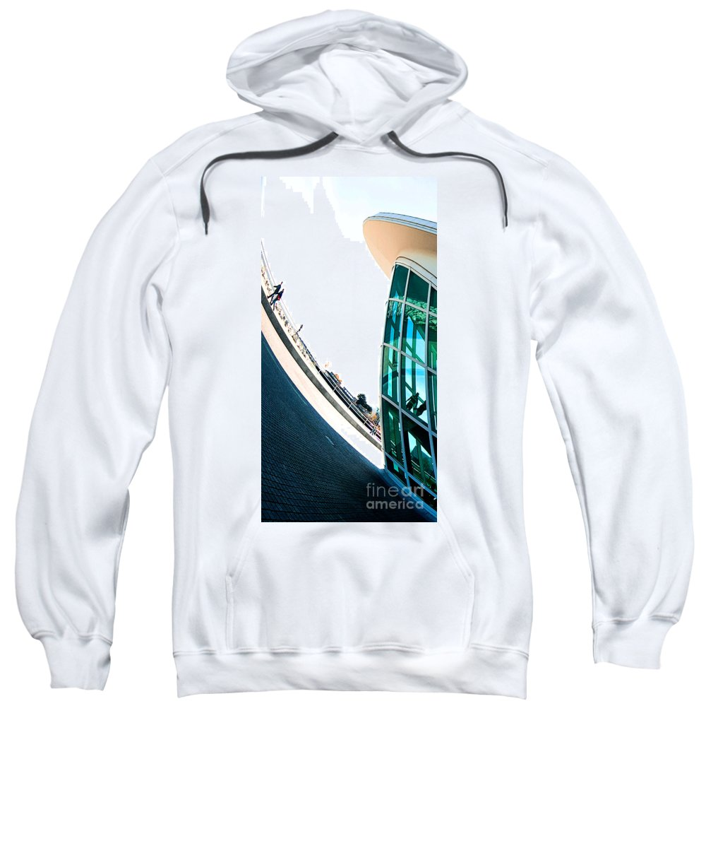 Milwaukee Sweatshirt featuring the photograph Mam Curved by Steven Dunn