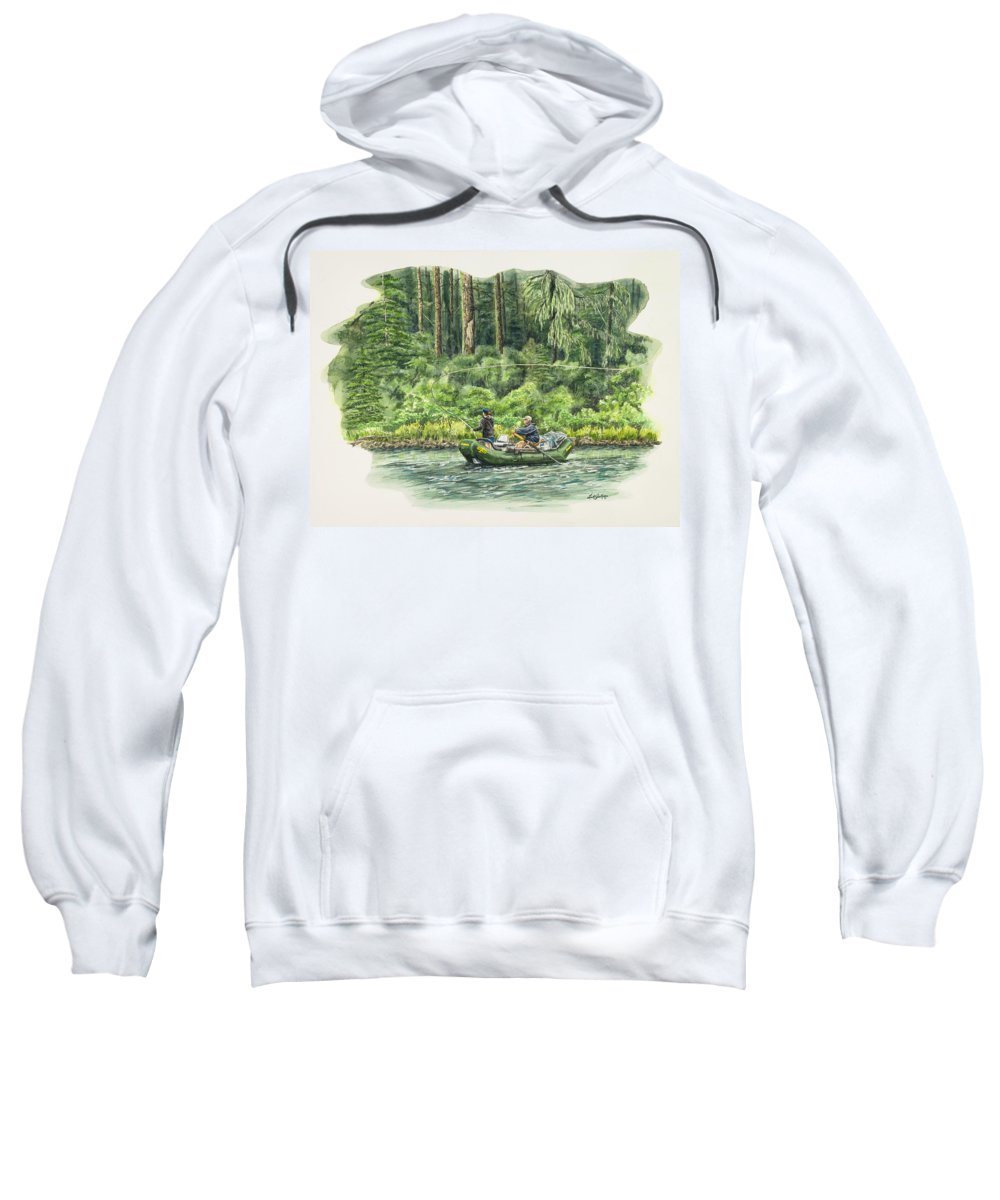 River Sweatshirt featuring the painting Man Rows Woman by Link Jackson
