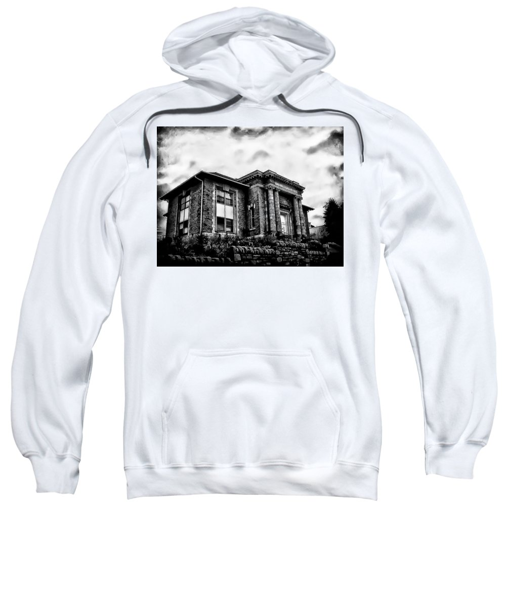 Manayunk Sweatshirt featuring the photograph Manayunk Branch Of The Free Library Of Philadelphia by Bill Cannon