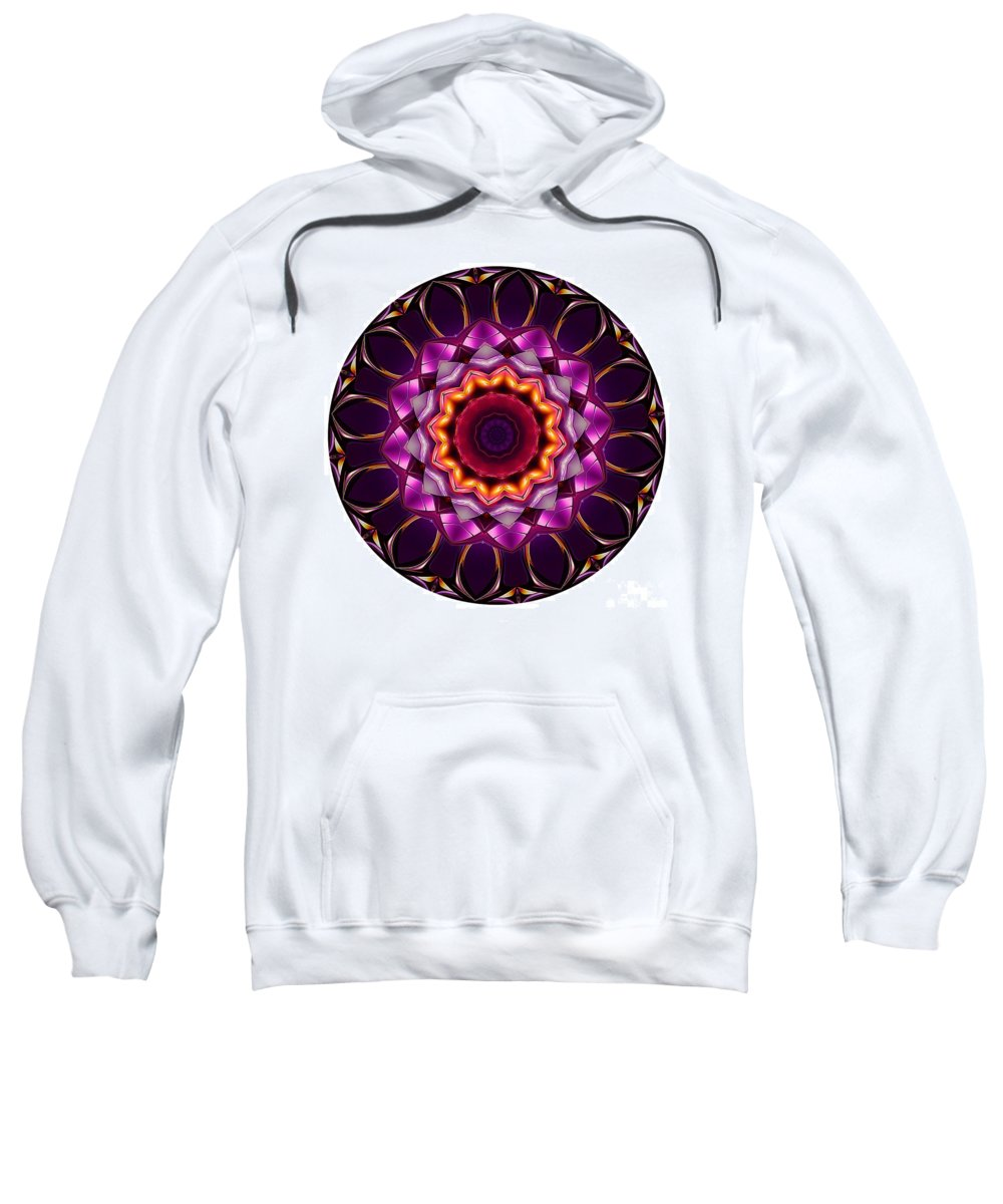Talisman Sweatshirt featuring the digital art Mandala - Talisman 1383 by Marek Lutek