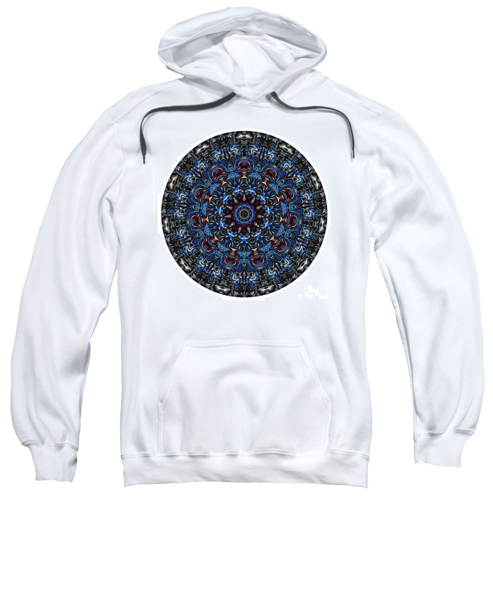 Amulet Sweatshirt featuring the digital art Mandala - Talisman 962 For Those Born In ..... by Marek Lutek