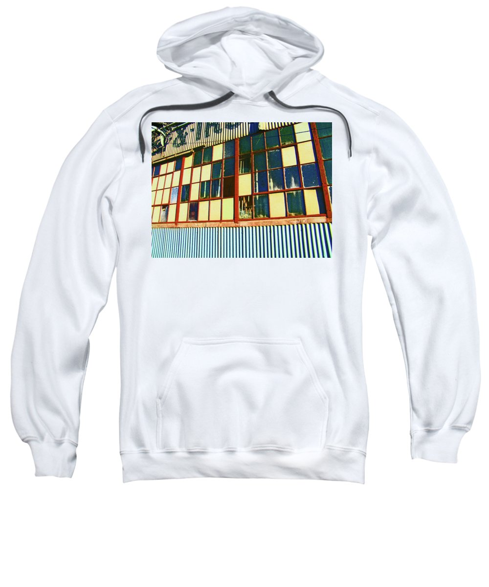 Abstract Sweatshirt featuring the photograph Manufacturing 4 by Lenore Senior