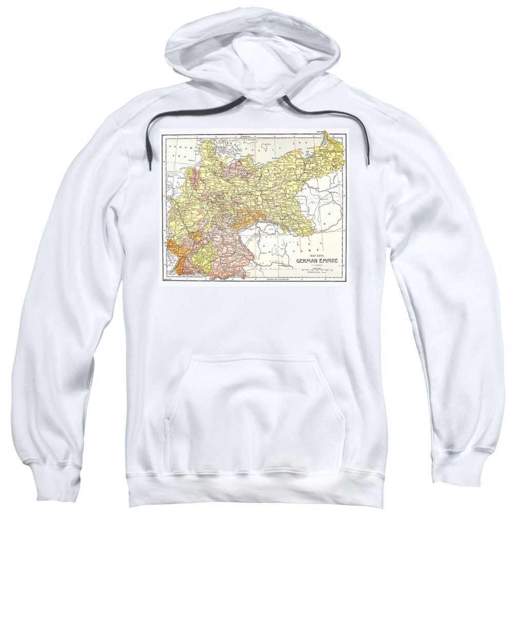 19th Century Sweatshirt featuring the photograph Map: German Empire by Granger